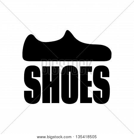 Flat icon shoes. Logo shoes. Vector choes