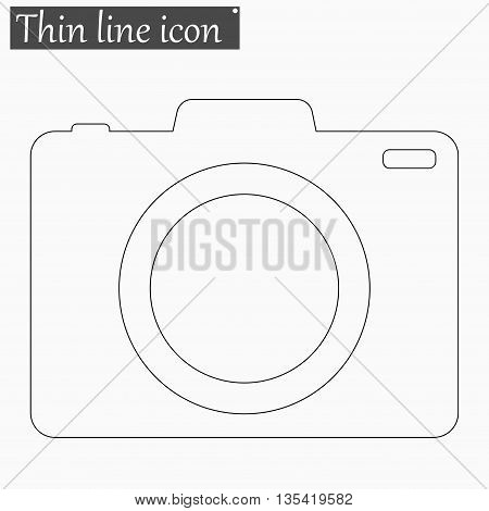 Camera icon Vector Style Black thin line