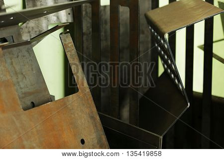 Different kinds of stock material, closeup