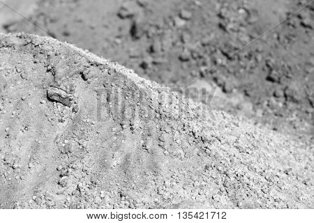 Big heap of cement, closeup