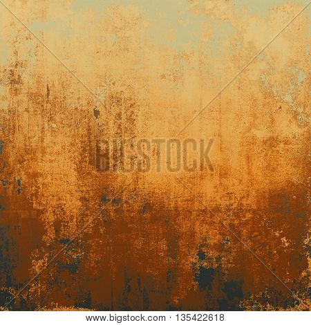 Colorful grunge texture or background with vintage style elements and different color patterns: yellow (beige); brown; gray; red (orange); black