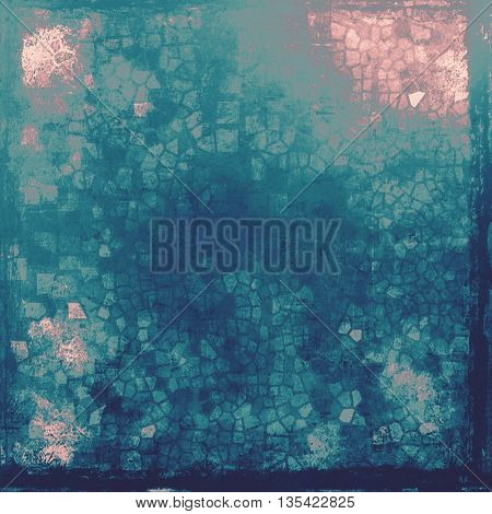 Old, grunge background or damaged texture in retro style. With different color patterns: blue; gray; purple (violet); cyan; pink