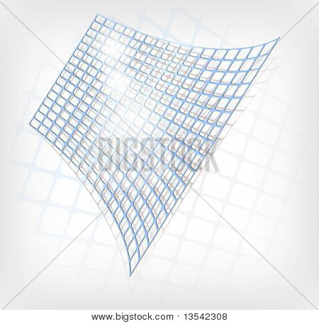 Abstract Blue Grid