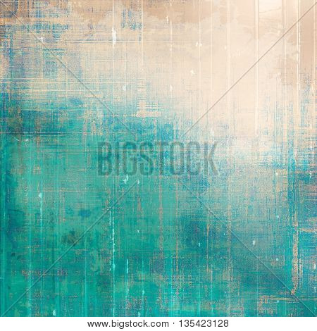 Distressed grunge texture, damaged vintage background with different color patterns: yellow (beige); brown; green; blue; cyan