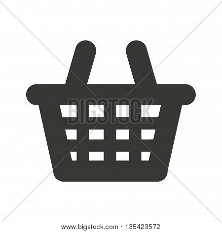 shopping basket isolated icon design, vector illustration  graphic