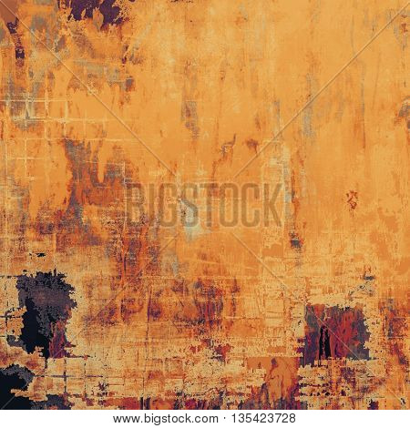 Decorated texture, antique vintage background with different color patterns: yellow (beige); brown; red (orange); purple (violet); pink