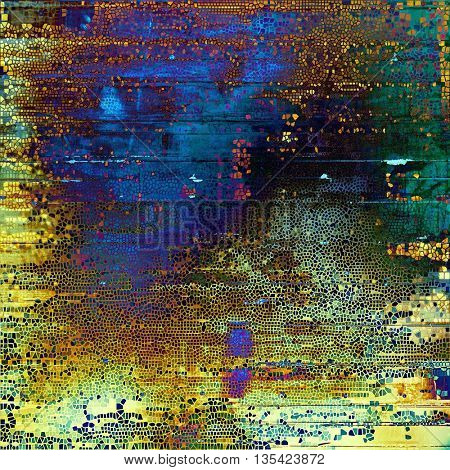 Highly detailed grunge background or scratched vintage texture. With different color patterns: yellow (beige); brown; green; blue; red (orange); purple (violet)