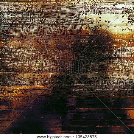 Scratched vintage colorful background, designed grunge texture. With different color patterns: black; purple (violet); red (orange); yellow (beige); gray