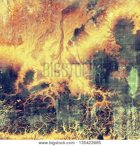 Nice looking grunge texture or abstract background. With different color patterns: yellow (beige); brown; green; blue; red (orange)