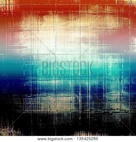 Vintage texture or antique background with grunge decorative elements and different color patterns: yellow (beige); blue; red (orange); black; pink; white