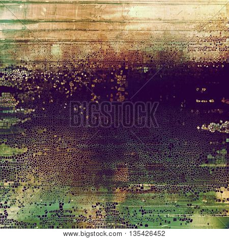 Grunge colorful texture, aged weathered background with different color patterns: yellow (beige); brown; green; gray; purple (violet); pink