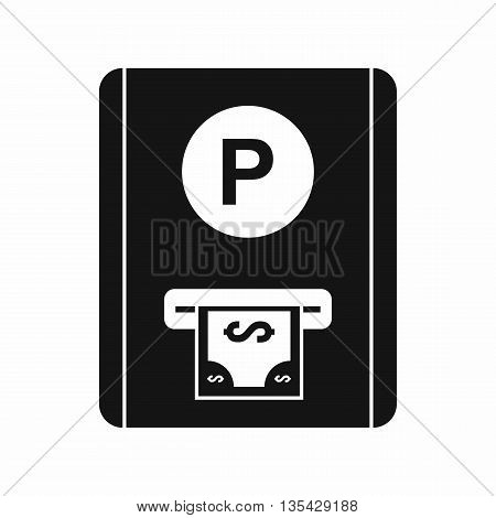Parking fee icon in simple style isolated on white background