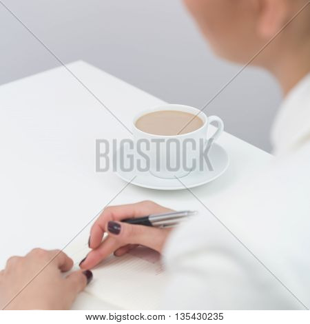 Office Worker With Coffee Cup