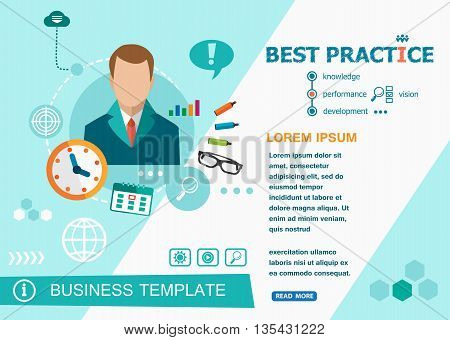 Best Practice And Flat Design Illustration Concepts For Business Analysis, Planning, Consulting