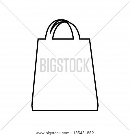 shopping bag isolated icon design, vector illustration  graphic
