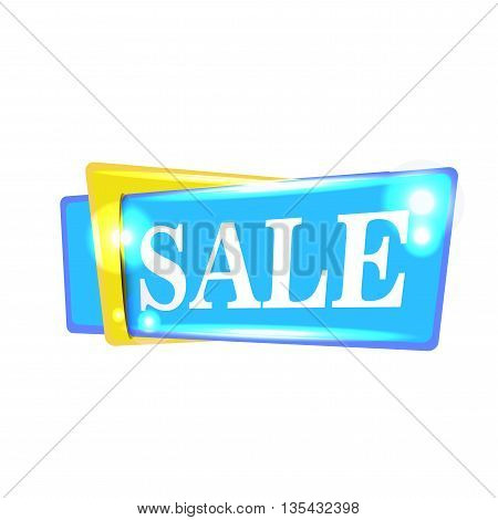 Collection of sale discount origami Banners. Sale banner template design. Label with offer and price tag vector illustration. Sale banner design background. Season, Summer sale concept.