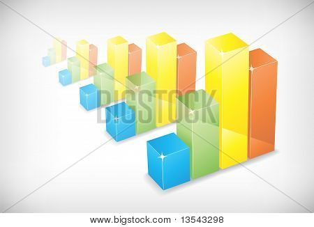 Five color charts background