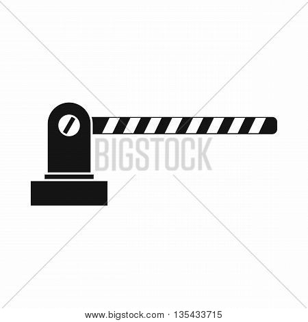 Parking barrier icon in simple style isolated on white background
