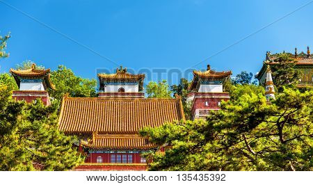 Four Great Regions Temple at the Summer Palace in Beijing, China