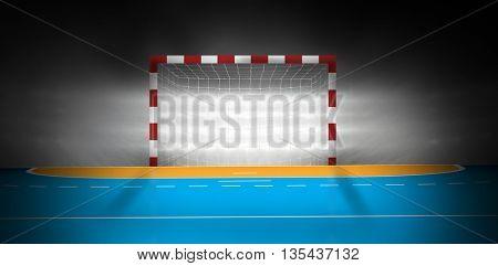 Image of empty handball goal