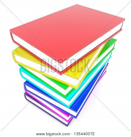 3D Stack Of Books Concept