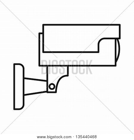 Surveillance camera icon in outline style isolated on white background