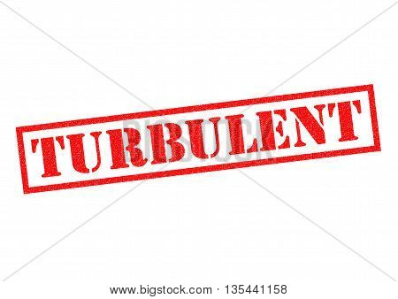 TURBULENT Rubber Stamp over a white background.