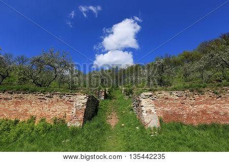 garden on singening terraces near Kharkov City, Ukraine
