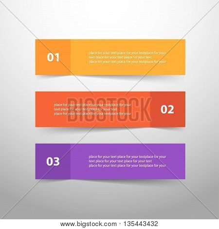 Vector lines arrows infographic. Template for diagram graph presentation and chart. Business concept with 3 options parts steps or processes.