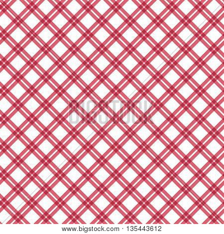 Seamless pattern check fabric background. Vector illustration