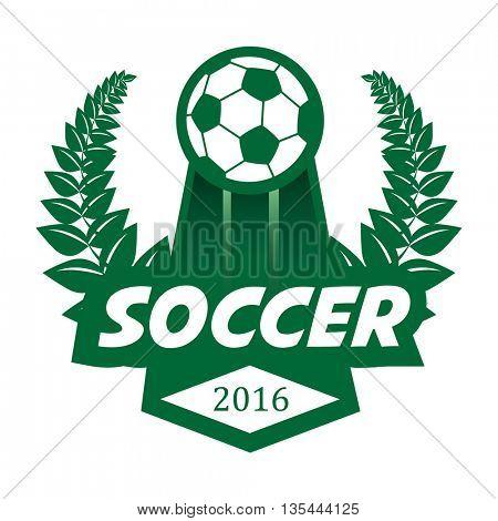 Soccer Football Badge Logo Design Template. Vector Illustration. Isolated on White.