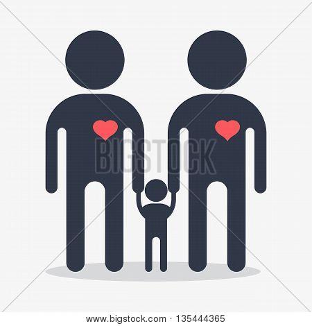 Happy Gay Boy Family Icon