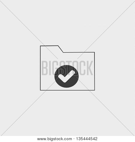 Folder icon Car Icon in a flat design in black color. Vector illustration eps10