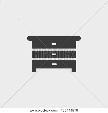 Dresser icon Car Icon in a flat design in black color. Vector illustration eps10