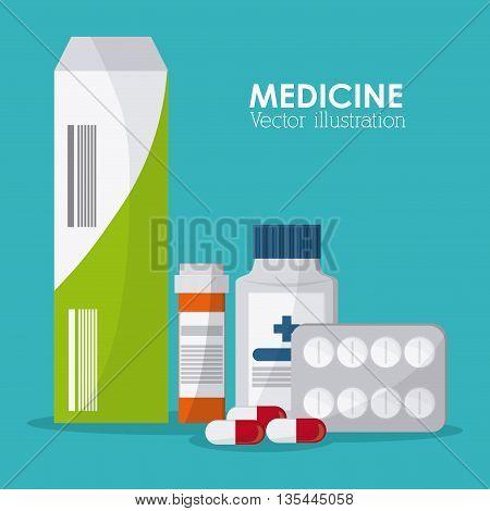 Medical concept with medine design, vector illustration 10 eps graphic.