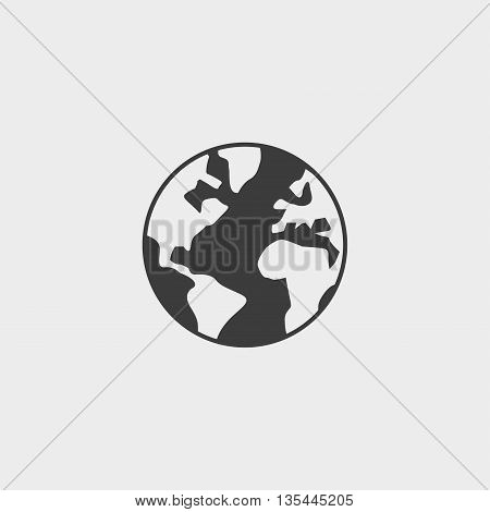 World icon Car Icon in a flat design in black color. Vector illustration eps10