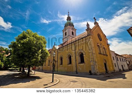 Town of Karlovac church and architecture central Croatia