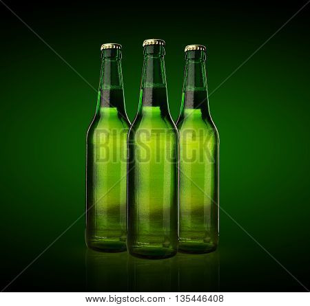 Cold Wet Beer Bottles