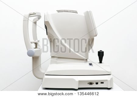 The Optical Instruments in isolated White Background