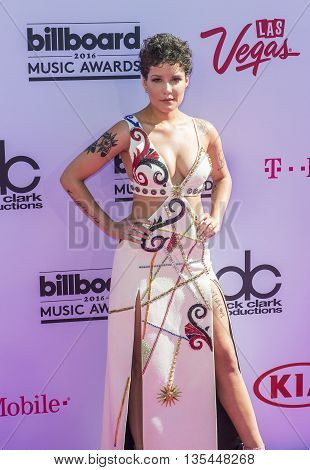 LAS VEGAS - MAY 22 : Singer Halsey attends the 2016 Billboard Music Awards at T-Mobile Arena on May 22 2016 in Las Vegas Nevada.