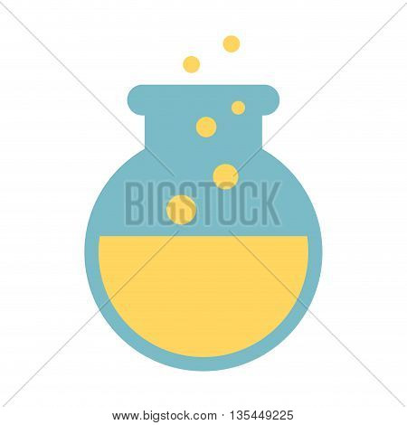 tube test laboratory isolated icon design, vector illustration  graphic