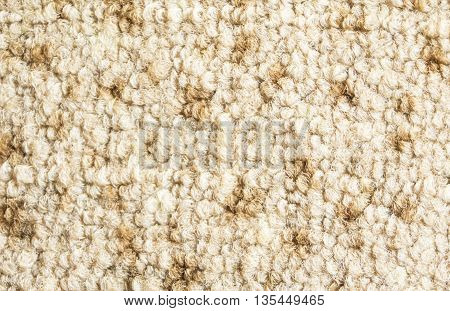 Flat background from light artificial hair on floor covering
