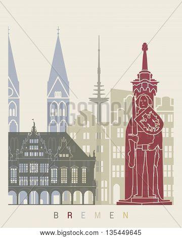 Bremen Skyline Poster