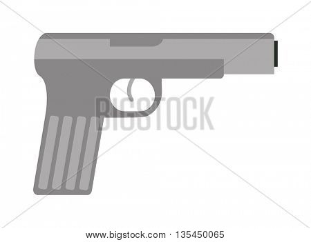 Pistol gun vector icon