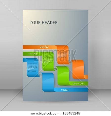 Design Element Page Booklet Style Infographics05