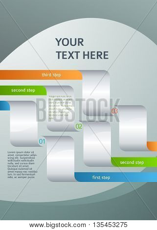 Design Element Page Booklet Style Infographics08