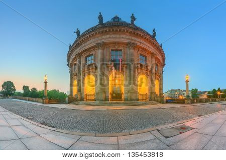 Famous Bode Museum Island in Berlin, Germany.