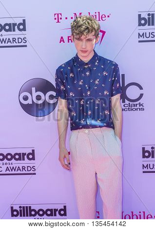 LAS VEGAS - MAY 22 : Singer Troye Sivan attends the 2016 Billboard Music Awards at T-Mobile Arena on May 22 2016 in Las Vegas Nevada.