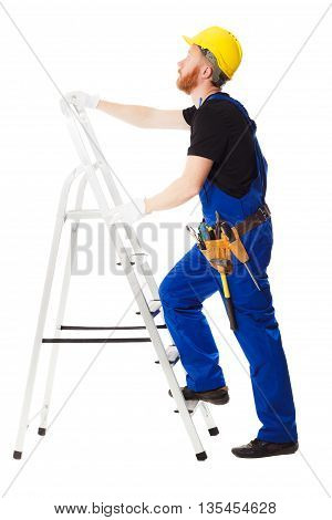 Man Builder In The Blue Uniform