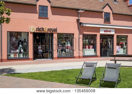 ROPPENHEIM, ALSACE, FRANCE - June 22, 2016: RICH&ROYAL STORE in the  Outlet Village Roppenheim